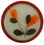 Image of Flower Candle Rose Round Medium