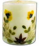 Image of Flower Candle Sandalwood Pillar