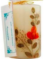 Image of Flower Candle Vanilla Cylindrical