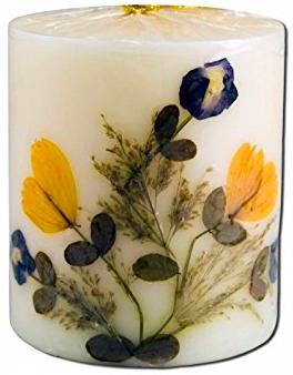 Image of Flower Candle Vanilla Pillar