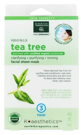 Image of Certified Organic Facial Sheet Mask Tea Tree