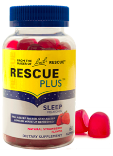 Image of Rescue Plus Sleep Melatonin 2.5 mg Gummy Strawberry
