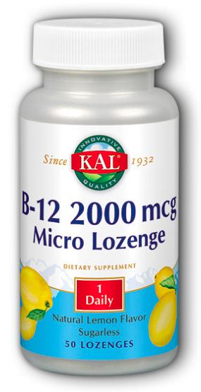 Image of B12 2000 mcg Micro Lozenge Lemon Flavor