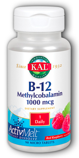 Image of B12 Methylcobalamin 1000 mcg ActivMelt Raspberry