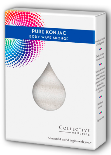 Image of Pure Konjac Wave Body Sponge
