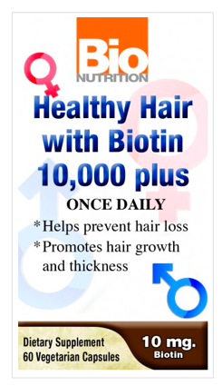 Image of Healthy Hair with Biotin 10,000 mcg Plus
