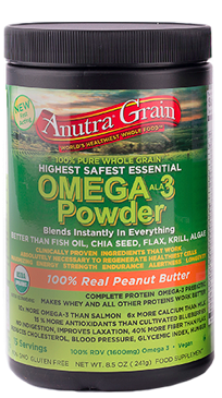 Image of Anutra Grain Omega-3 Powder Peanut Butter