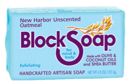 Image of Block Soap Bar New Harbor Unscented Oatmeal