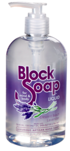 Image of Block Soap Liquid Crescent Beach Lavender