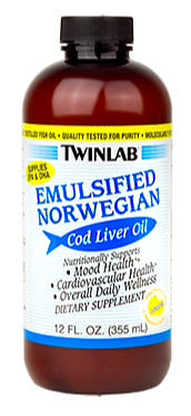Image of Emulsified Norwegian Cod Liver Oil Liquid Lemon