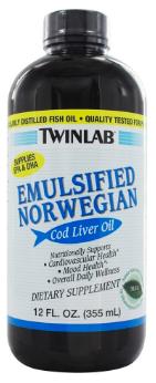 Image of Emulsified Norwegian Cod Liver Oil Liquid Mint