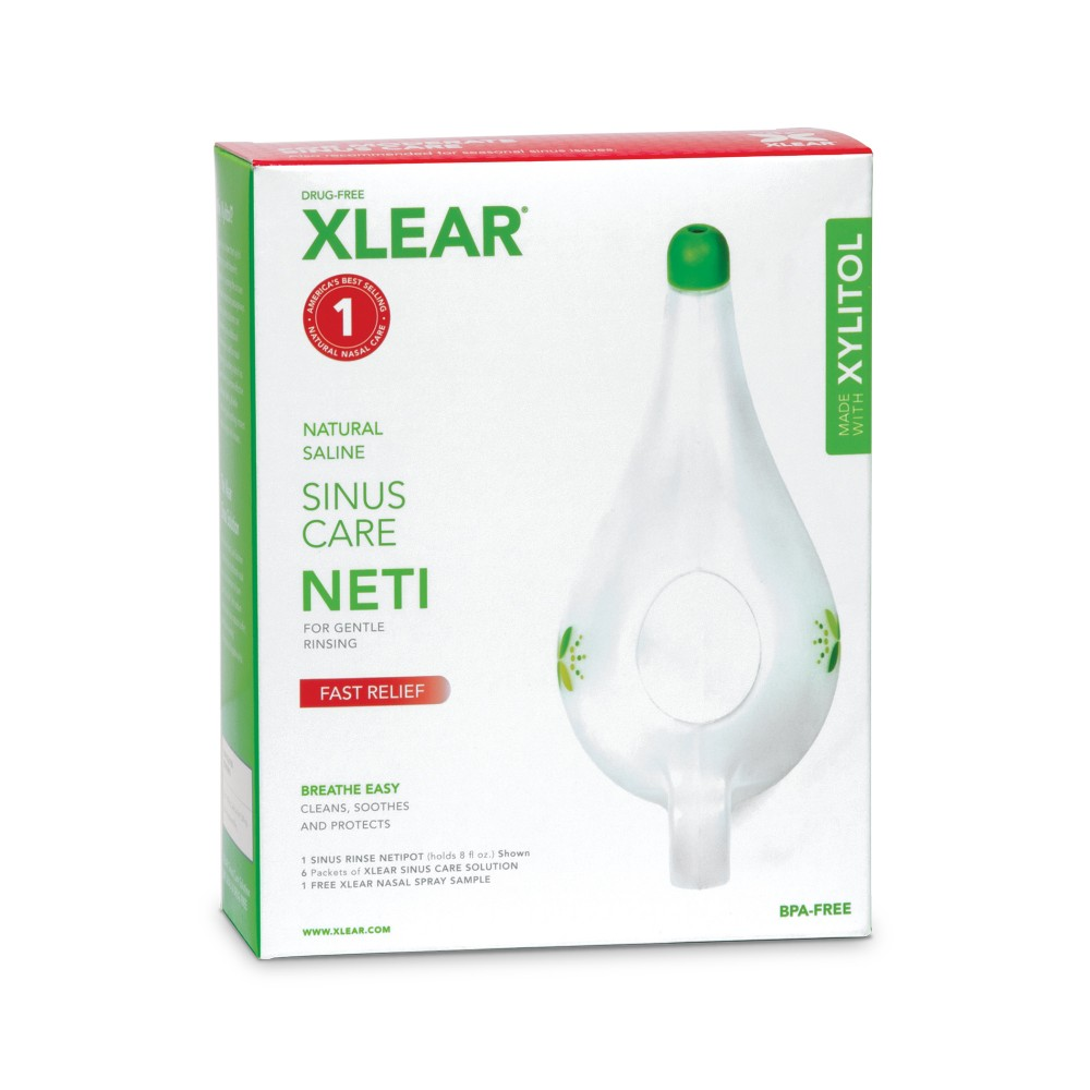Image of Xlear Sinus Care NetiPot w/packets Kit