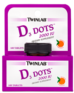 Image of D3 Dots 2000 IU Sublingual Tangerine