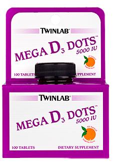 Image of Mega D3 Dots 5000 IU Sublingual Tangerine