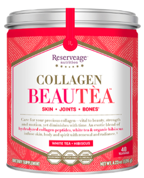 Image of Collagen Beautea White Tea + Hibiscus