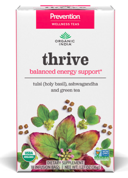 Image of Prevention Wellness Tea Thrive for Balanced Energy Support