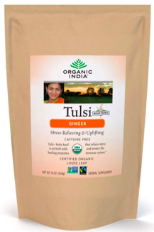 Image of Tulsi Tea Ginger Loose Leaf