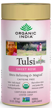 Image of Tulsi Tea Sweet Rose Loose Leaf Canister
