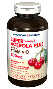 Image of Super Acerola Plus 500 mg Chewable Berry