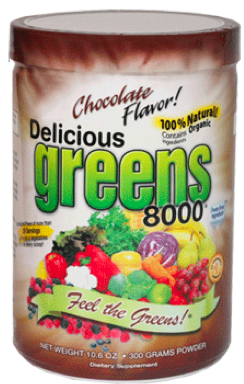 Image of Delicious Greens 8000 Powder Chocolate