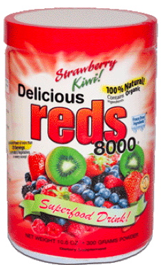 Image of Delicious Reds 8000 Powder Strawberry Kiwi