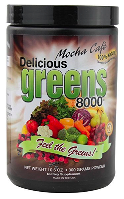 Image of Delicious Greens 8000 Powder Mocha Cafe