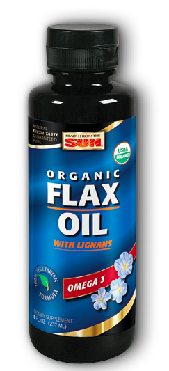 Image of Flax Oil Liquid with Lignans Organic