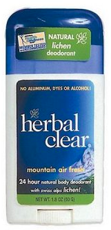 Image of Herbal Clear Mountain Air Fresh Deodorant Stick