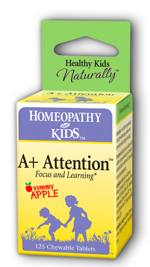 Image of Homeopathy for Kids A+ Attention Chewable Apple