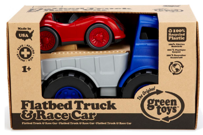 Image of Flatbed Truck & Race Cars