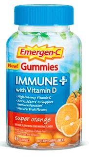 Image of Emergen-C Immune + with Vitamin D Gummies Super Orange