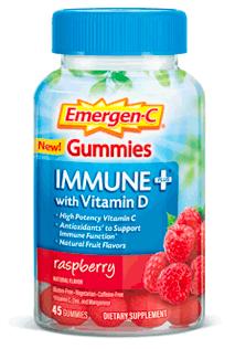 Image of Emergen-C Immune + with Vitamin D Gummies Raspberry