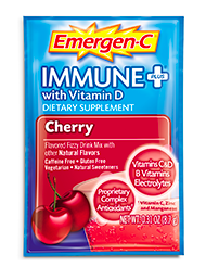 Image of Emergen-C Immune + with Vitamin D Powder Cherry
