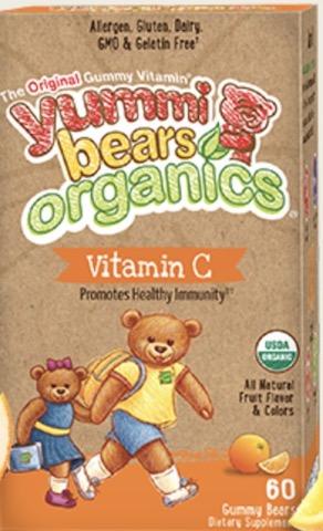 Image of Yummi Bears Organics Vegetarian Viteamin C 30 mg Gummy