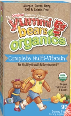 Image of Yummi Bears Organics Complete Multi-Vitamin Gummy