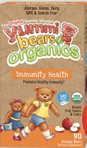 Image of Yummi Bears Organics Vegetarian Immunity Health Gummy
