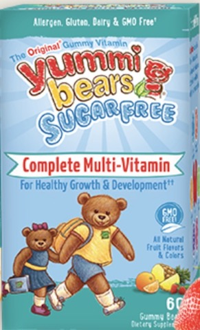 Image of Yummi Bears Sugar Free Cpmplete Multi-Vitamin Gummy