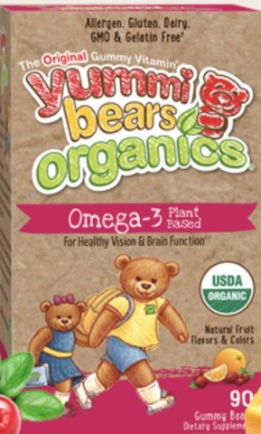 Image of Yummi Bears Organics Omega-3 with Chia Plant Based Gummy
