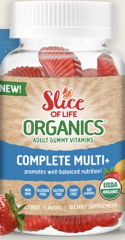 Image of Slice of Life Organics Vegetarian  Complete Multi+ Gummy