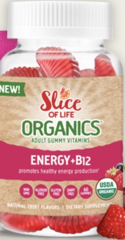 Image of Slice of Life Organics Vegetarian  Energy + B12 Gummy