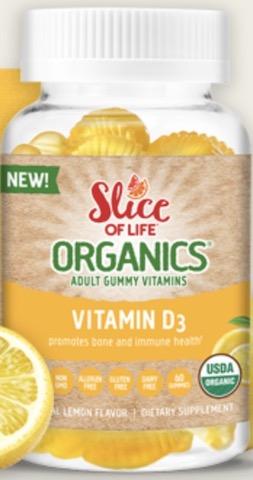 Image of Slice of Life Organics Vegetarian Vitamin D3 1,000 iU Gummy
