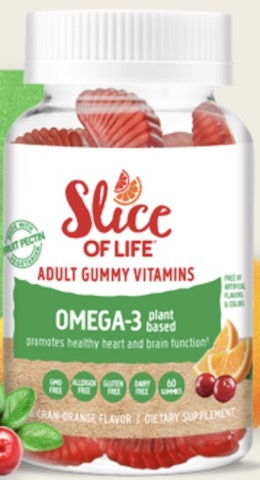 Image of Slice of Life Vegetarian  Omega 3 with Chia Seed Gummy