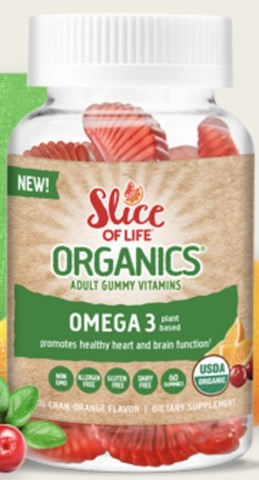 Image of Slice of Life Organics Vegetarian  Omega-3 with Chia Gummy