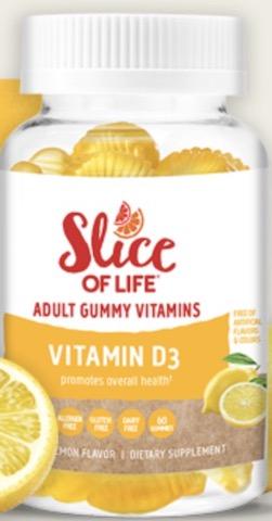 Image of Slice of Life Vitamin D3 500 IU Gummy
