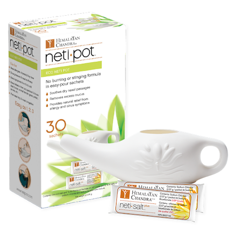 Image of Neti Pot Eco with 30 Salt Packets