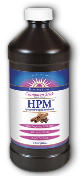 Image of Mouthwash HPM Hydrogen Peroxide Mouthwash Cinnamon