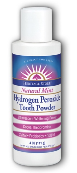 Image of Tooth Powder Hydrogen Peroxide Natural Mint