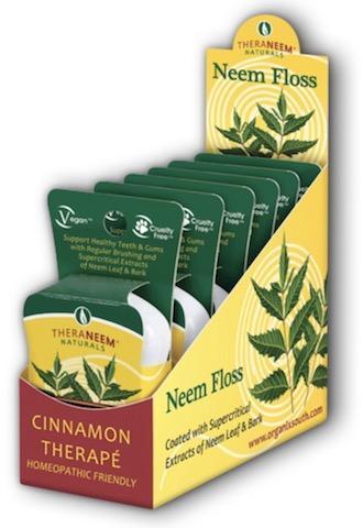 Image of TheraNeem Neem Floss (Dental Floss) Cinnamon