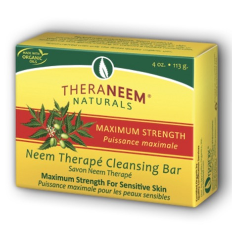 Image of TheraNeem Cleansing Bar Maximum Strength Neem Oil