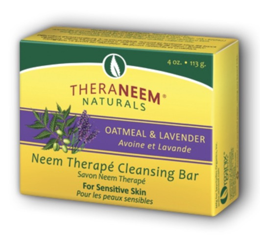 Image of TheraNeem Cleansing Bar Oatmeal &  Lavender